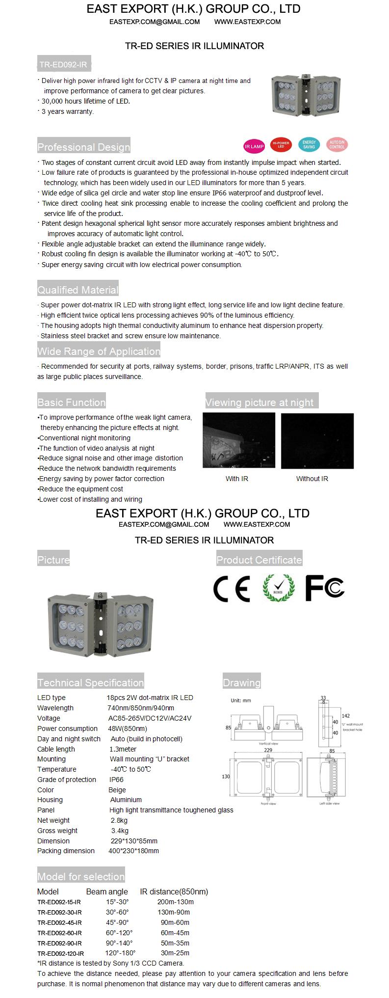 TR-ED092-IR IR Illuminator